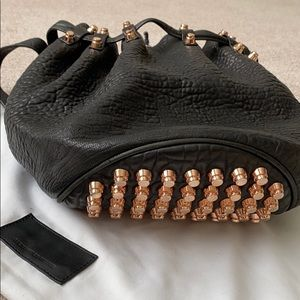 Alexander Wang Bucket Bag Black Rose Gold